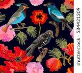 japanese garden. seamless... | Shutterstock .eps vector #534421309