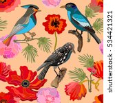 japanese garden. seamless... | Shutterstock .eps vector #534421321