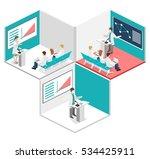 isometric flat 3d concept... | Shutterstock .eps vector #534425911