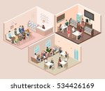 isometric interior of sweet... | Shutterstock .eps vector #534426169
