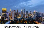 bangkok city at sunset ... | Shutterstock . vector #534433909