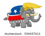 caricature wicked elephant with ... | Shutterstock .eps vector #534437611