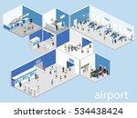 isometric flat 3d concept... | Shutterstock .eps vector #534438424