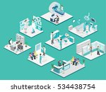 isometric flat interior of... | Shutterstock .eps vector #534438754