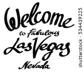 welcome to fabulous las vegas... | Shutterstock .eps vector #534439225