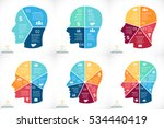 vector brain infographic. human ... | Shutterstock .eps vector #534440419