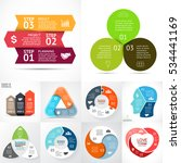 vector circle infographics set. ... | Shutterstock .eps vector #534441169
