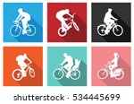 bicyclists on flat icons for... | Shutterstock .eps vector #534445699