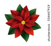 poinsettia flowers christmas... | Shutterstock .eps vector #534447919