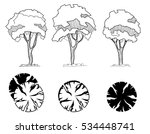 set of treetop symbols  for... | Shutterstock .eps vector #534448741