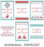 christmas set of 6 vertical... | Shutterstock . vector #534452167