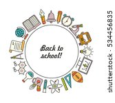 vector school background  with... | Shutterstock .eps vector #534456835