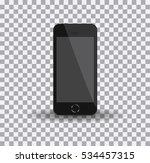 realistic black smartphone in... | Shutterstock .eps vector #534457315