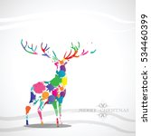 reindeer christmas holiday... | Shutterstock .eps vector #534460399