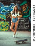 portrait of young girl posing...   Shutterstock . vector #534462355