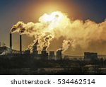 factory pipe polluting air ... | Shutterstock . vector #534462514