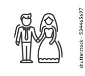 newly married couple   vector... | Shutterstock .eps vector #534465697