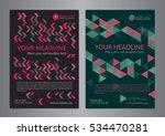 set a5  a4 business brochure...   Shutterstock .eps vector #534470281