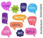 set of speech color bubbles for ... | Shutterstock .eps vector #534470695