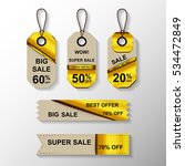 set of sale labels.vector sale... | Shutterstock .eps vector #534472849