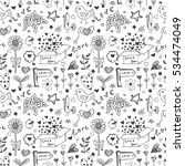 doodle vector freehand drawing...   Shutterstock .eps vector #534474049