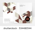geometric background template... | Shutterstock .eps vector #534480544