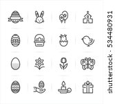 easter icons with white...