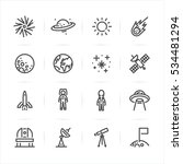 space icons with white... | Shutterstock .eps vector #534481294