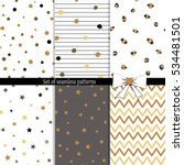 six different seamless patterns.... | Shutterstock .eps vector #534481501