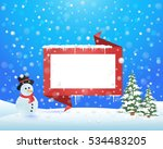christmas landscape  winter... | Shutterstock .eps vector #534483205
