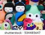 colorful handmade dolls on sale | Shutterstock . vector #534485647