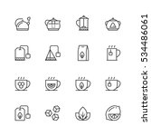 tea related vector icon set in... | Shutterstock .eps vector #534486061