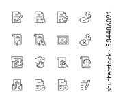 vector icon set of legal... | Shutterstock .eps vector #534486091