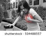 woman having heart attack ... | Shutterstock . vector #534488557