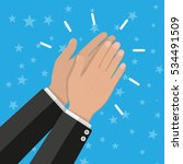 human hands clapping.... | Shutterstock .eps vector #534491509
