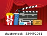 retro movie set. black... | Shutterstock .eps vector #534492061