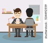 businessman job interview. boss ... | Shutterstock . vector #534492559