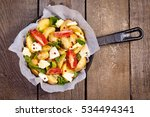 potatoes with vegetables in a...   Shutterstock . vector #534494341