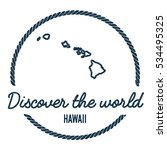 hawaii map outline. vintage... | Shutterstock .eps vector #534495325