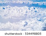 aerial view of cloud and sky... | Shutterstock . vector #534498805