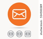 envelope icon. send email... | Shutterstock .eps vector #534500389