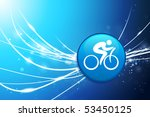 Cycle Button On Blue Abstract...