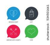 colored speech bubbles. love... | Shutterstock .eps vector #534501661