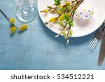 Spring Easter Table Setting On...