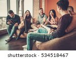 group of multi ethnic young... | Shutterstock . vector #534518467