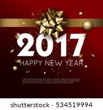 happy new year 2017 greeting... | Shutterstock .eps vector #534519994