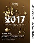 happy new year 2017 greeting... | Shutterstock .eps vector #534520039