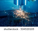 milling machine working on... | Shutterstock . vector #534520105