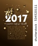 happy new year 2017 greeting... | Shutterstock .eps vector #534520111