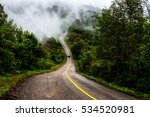 mountain roads and fog cover...   Shutterstock . vector #534520981